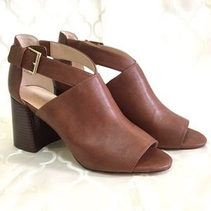 🆕 Nine West Heels Mule Sandal Brown Gaceo size 11